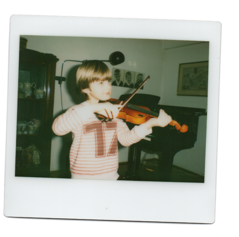 Me playing the violin with about five or six.